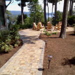 Paver patios and fire pits installed in New Hampshire, Belknap County, Meredith, Laconia, Gilford.