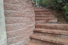 Allen Block Retaining Wall and Stairs Gilford, NH