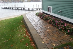 Permeable paver walkway installed in Gilford, New Hampshire, Belknap County
