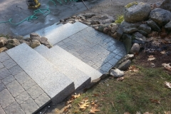 Techo-Bloc Pavers and Granite steps installed in Meredith NH
