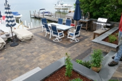 Paver Patios and walls installed in Laconia, New Hampshire Belknap County