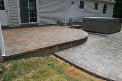 Raised Paver Patio Installed by Natures Elite Landscaping, Serving all of New Hampshire's Lakes Region and beyond