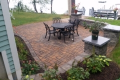 Belgard Permeable Pavers and sitting wall installed in Gilford, New Hampshire by Natures Elite Landscaping