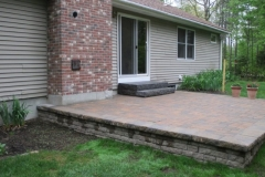 Raised patio Tuftonboro, NH