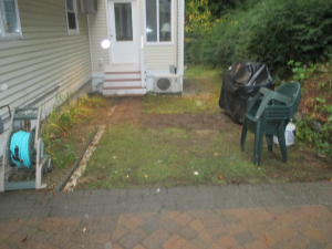 Paver patio installed in Gilford New Hampshire, Belknap County.