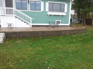 Permeable Pavers and Retaining walls installed in Gilford New hampshire, Belknap County