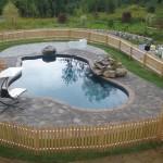 Pavers around pool deck New Hampshire