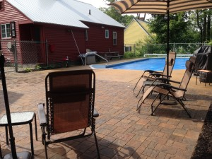 Paver patio and pool deck in laconia New Hampshire, Belknap County