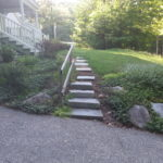 Granite steps installed in Wolfeboro New Hampshire