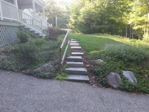 Granite steps installed in Wolfeboro New Hampshire