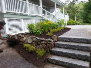 Granite steps, Paver walkways, Landscaping