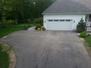 Paver Driveway before picture, Paver driveway installers New Hampshire.