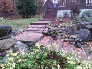 Pavers.Granite steps. Meredith NH, Lakes Region